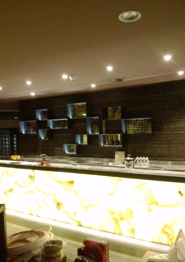 illuminazione bancone Pub Cantu'